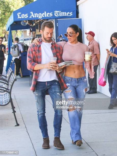 Nikki Bella and Artem Chigvintsev are seen on September 30 2019 in Los Angeles California