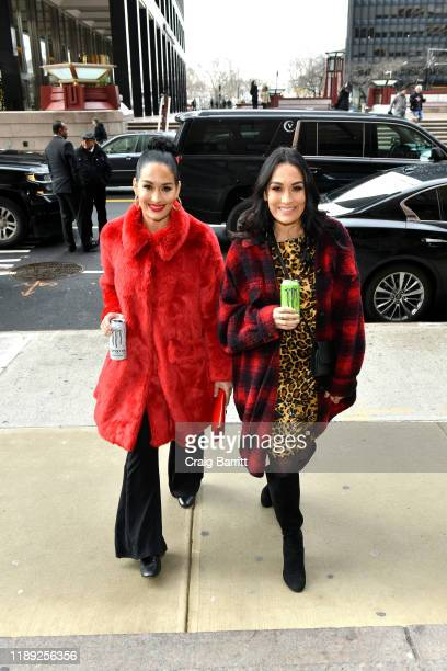 Nikki Bella and Brie Bella announce partnership with Monster Energy on December 11 2019 in New York City