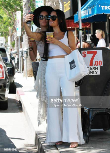 Nikki Bella and Brie Bella are seen on August 13 2019 at Los Angeles