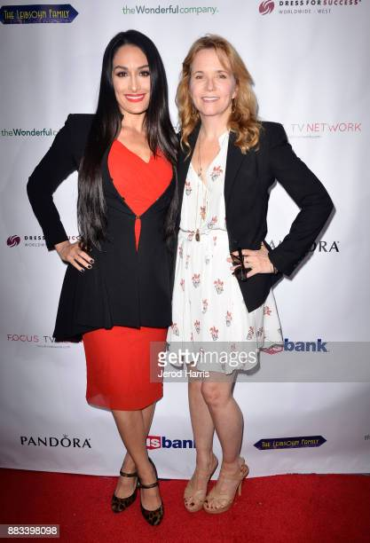 Nikki Bella and Lea Thompson attend the Dress For Success WorldwideWest Seventh Annual Shop For Success Vip Event In Los Angeles on November 30 2017...