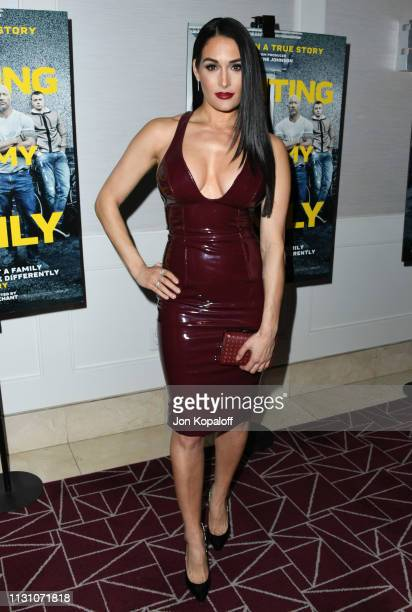 Nikki Bella attends Fighting With My Family Los Angeles Tastemaker Screening at The London Hotel on February 20 2019 in West Hollywood California