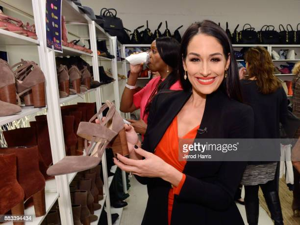 Nikki Bella attends the Dress For Success WorldwideWest Seventh Annual Shop For Success Vip Event In Los Angeles on November 30 2017 in Los Angeles...