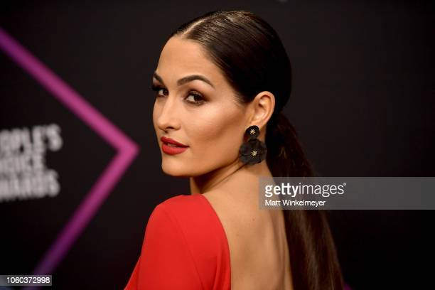 Nikki Bella attends the People's Choice Awards 2018 at Barker Hangar on November 11 2018 in Santa Monica California