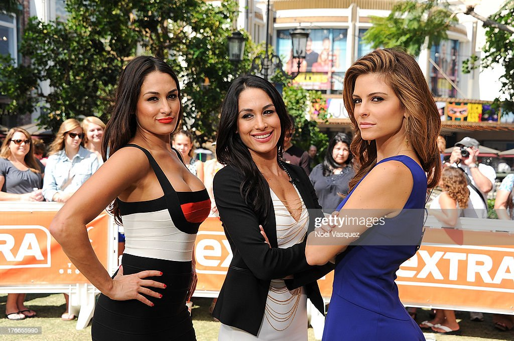"""WWE's Bella Twins And Taryn Manning On """"Extra"""""""