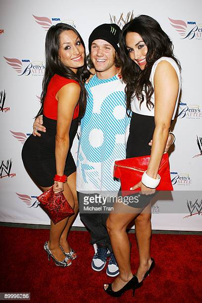 Nikki Bella Louie Vito and Brie Bella arrive to WWE's Summer Slam Kickoff Party held at hwood on August 21 2009 in Hollywood California