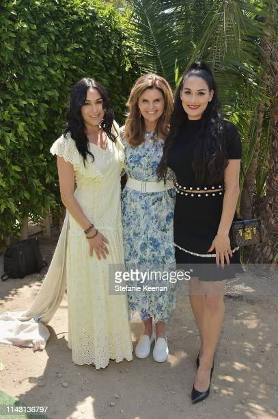 Nikki Bella Maria Shriver and Brie Bella attend the 3rd Annual Best Buddies Mother's Day Celebration Featuring Title Sponsor Hublot at La Villa...
