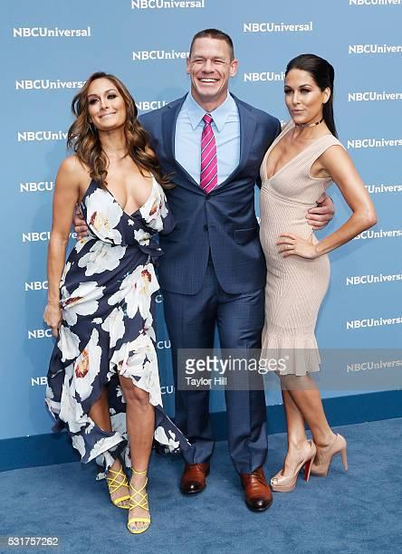 Nikki Bella of Total Divas on E Entertainment John Cena of WWE on USA Network and Brie Bella of Total Divas on E Entertainment attend the...