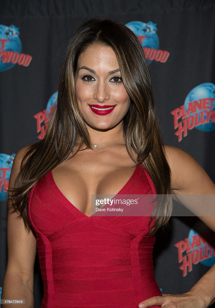 Nikki Bella visits at Planet Hollywood Times Square on ...