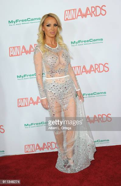 Nikki Benz attends the 2018 Adult Video News Awards held at Hard Rock Hotel Casino on January 27 2018 in Las Vegas Nevada