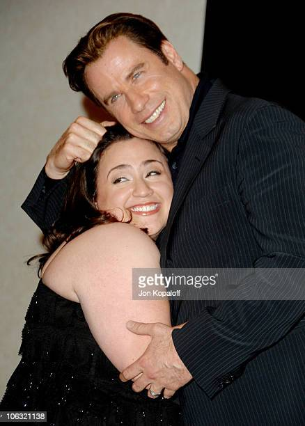 Nikki Blonsky and John Travolta during ShoWest 2007 Hairspray Photo Call at Paris Hotel in Las Vegas Nevada United States