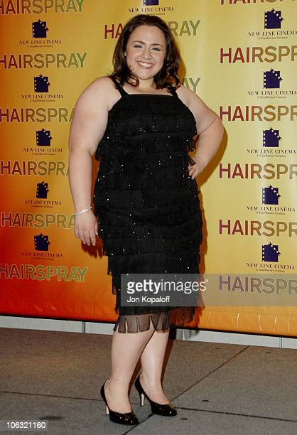 Nikki Blonsky during ShoWest 2007 Hairspray Photo Call at Paris Hotel in Las Vegas Nevada United States