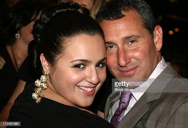 Nikki Blonsky with her director Adam Shankman during the after party for the New York City premiere of Hairspray at Roseland Ballroom on July 16 2007...