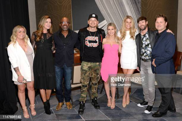 Nikki Boon Beth Leonard Darius Rucker Kane Brown Katelyn Jae and Chris Parr attends the Music Business Association Awards and Hall of Fame Dinner at...