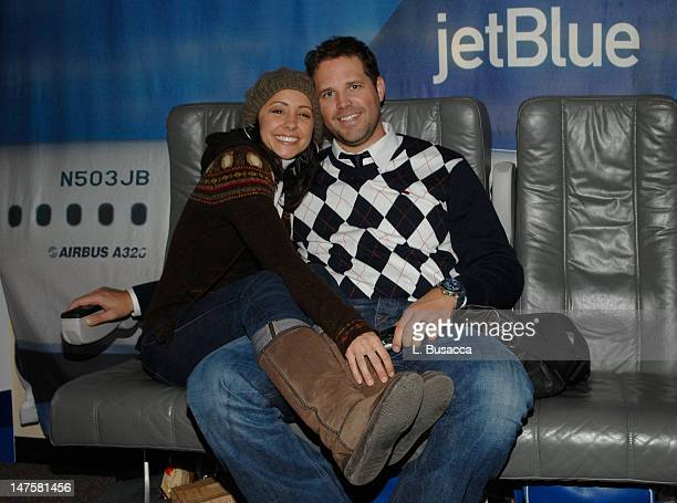 Nikki Boyer and David Denman visit the Hollywood Life House on January 20 2008 in Park City Utah