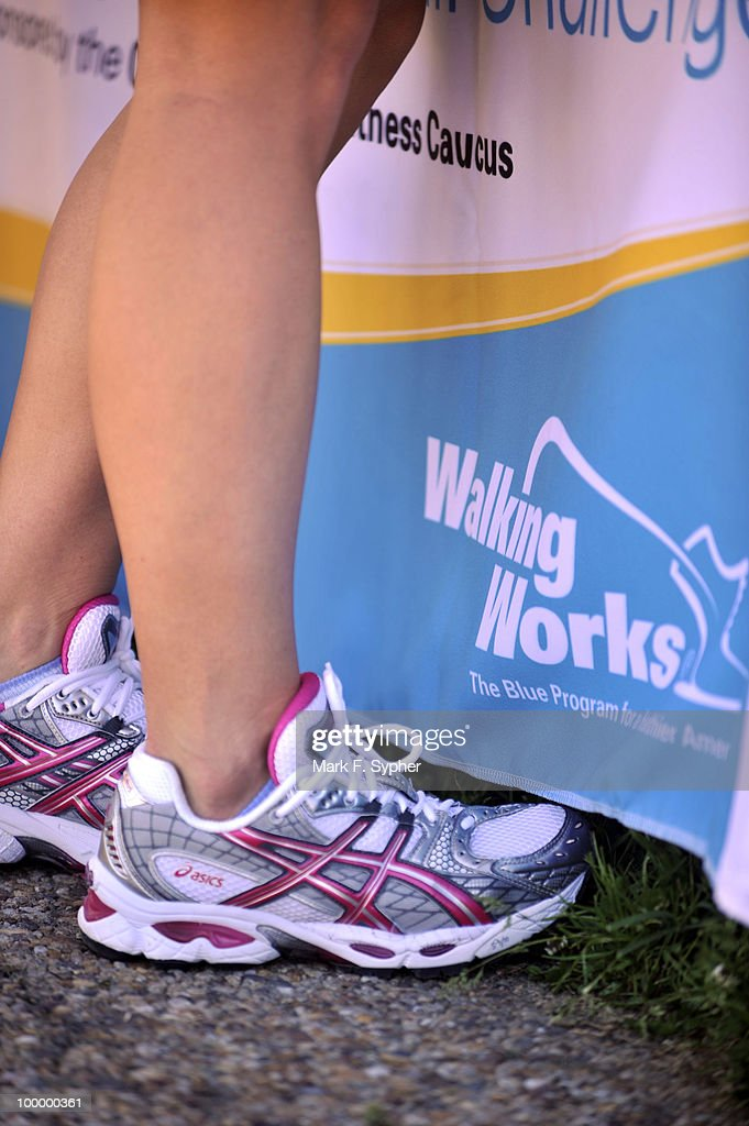 Nikki Bullock, a scheduler for Rep. Jeff Flake (R-AZ) signed up with her walking shoes on for the 7th Annual WalkingWorks Capitol Hill Challenge on Tuesday morning at the Upper House Park behind the Longworth House Office Building.