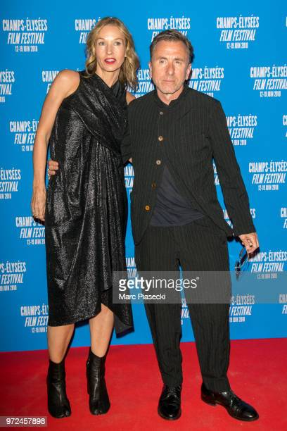 Nikki Butler and actor Tim Roth attend the 7th Champs Elysees Film Festival at Cinema Gaumont Marignan on June 12 2018 in Paris France