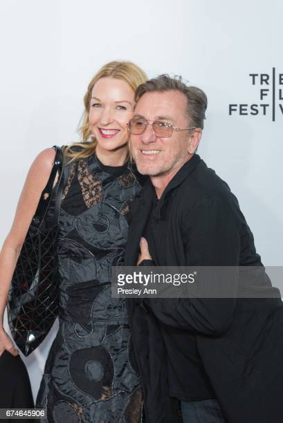 """Nikki Butler and Tim Roth attend """"Reservoir Dogs"""" 25th Anniversary Screening during the 2017 Tribeca Film Festival at Beacon Theatre on April 28,..."""