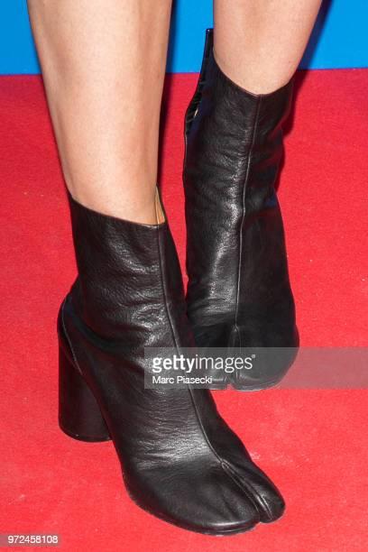 Nikki Butler shoe detail attends the 7th Champs Elysees Film Festival at Cinema Gaumont Marignan on June 12 2018 in Paris France