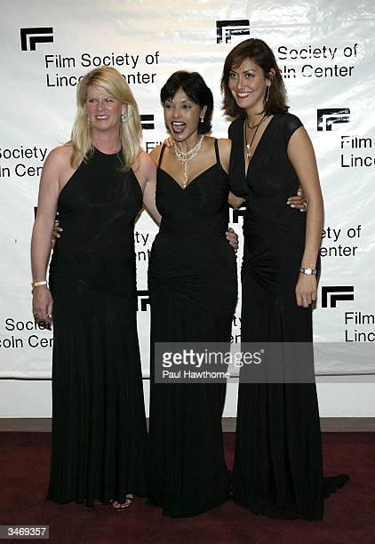 Nikki Caine Michael's wife Shakira Caine and Natasha Caine attend the Film Society Of Lincoln Centers 2004 Gala Tribute to Sir Michael Caine on April...