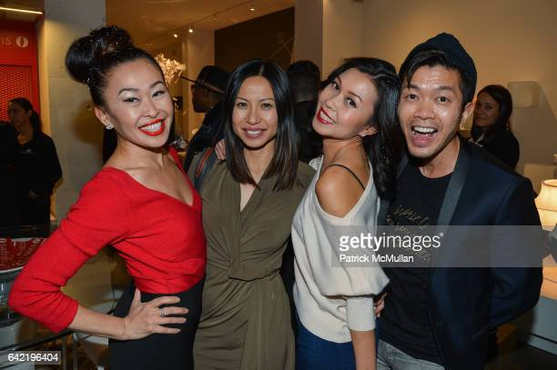 Nikki Cheng Min Chan Pettie Chong and Charlie Wong attend Mickey Boardman Michael Musto Present the Official NYFW Chulo Underwear Runway Show at...