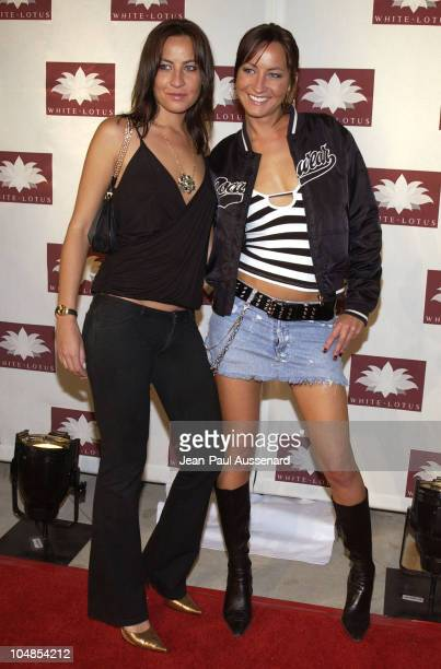 Nikki Collins and Teena Collins during White Lotus Grand Opening at White Lotus in Hollywood California United States
