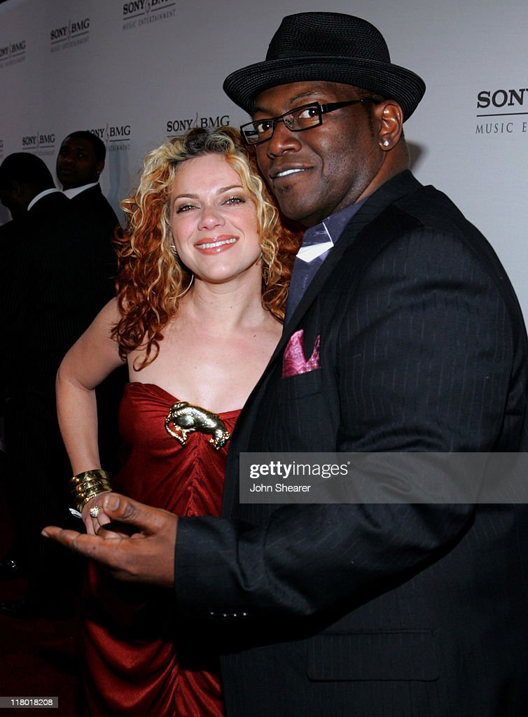 Nikki Costa and Randy Jackson during 2006 Sony/BMG GRAMMY After Party - Red Carpet at Roosevelt Hotel in Hollywood, California, United States.