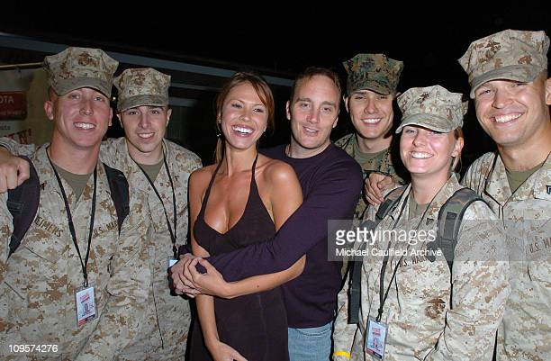 Nikki Cox and Jay Mohr during Rockin' the Corps Concert An American Thank You Celebration for US Marines Arrivals at Camp Pendelton in San Diego...