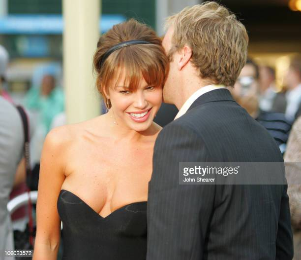 Nikki Cox and Jay Mohr during The Groomsmen World Premiere at The Arclight in Hollywood California United States
