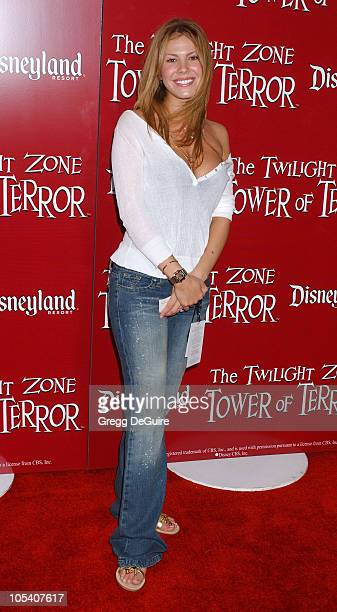 Nikki Cox during The Twilight Zone Tower of Terror Opens at Disney's California Adventure at California Adventure in Anaheim California United States