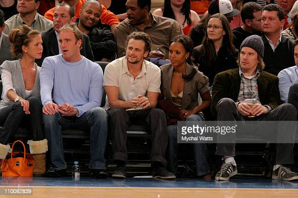 Nikki Cox with Husband Jay Mohr David Moscow Kerry Washington and Ethan Hawke