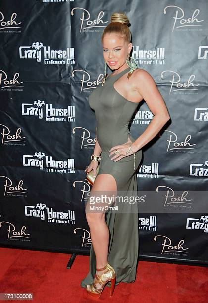 Nikki Delano arrives at the Crazy Horse III Gentleman's Club on July 6 2013 in Las Vegas Nevada