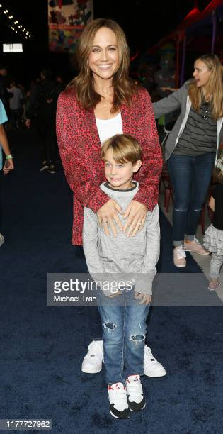 Nikki DeLoach and son William Hudson Goodell attend the PS ARTS Annual Fundraiser Express Yourself held at Barker Hangar on September 28 2019 in...