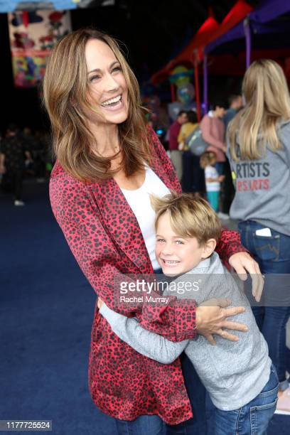 Nikki DeLoach and William Hudson Goodell attend PS ARTS Express Yourself 2019 at The Barker Hanger on September 28 2019 in Santa Monica California