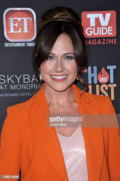 Nikki Deloach arrives at TV Guide Magazine's Annual Hot List Party at SkyBar at the Mondrian Los Angeles on November 12 2012 in West Hollywood...