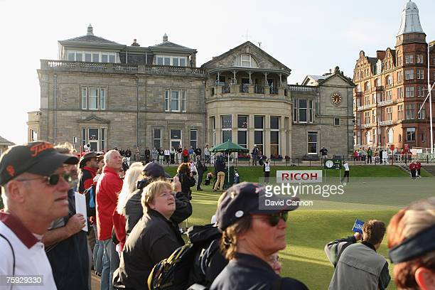 Nikki Garrett of Australia hits the opening tee shot to commence play during the First Round of the 2007 Ricoh Women's British Open held on the Old...