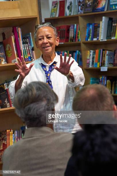 Nikki Giovanni attends Kwame Alexander Discussion For His New Book 'Swing'at Skylight Books on October 16 2018 in Los Angeles California