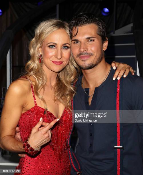Nikki Glaser and Gleb Savchenko pose at Dancing with the Stars Season 27 at CBS Televison City on September 24 2018 in Los Angeles California