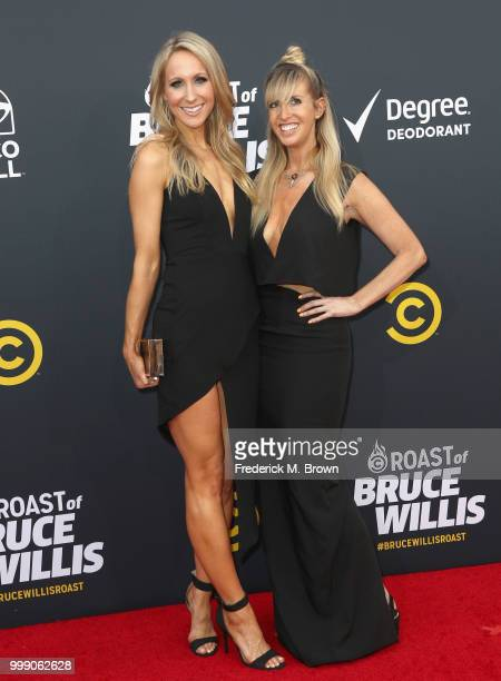 Nikki Glaser and Lizzy Cooperman attend the Comedy Central Roast of Bruce Willis at Hollywood Palladium on July 14 2018 in Los Angeles California