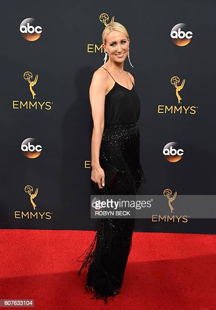 Nikki Glaser arrives for the 68th Emmy Awards on September 18 2016 at the Microsoft Theatre in Los Angeles / AFP / Robyn Beck