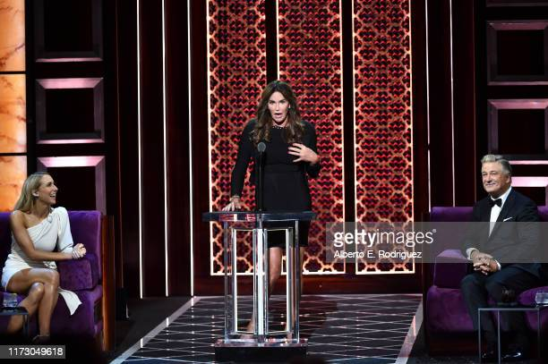 Nikki Glaser Caitlyn Jenner and Alec Baldwin attend the Comedy Central Roast of Alec Baldwin at Saban Theatre on September 07 2019 in Beverly Hills...