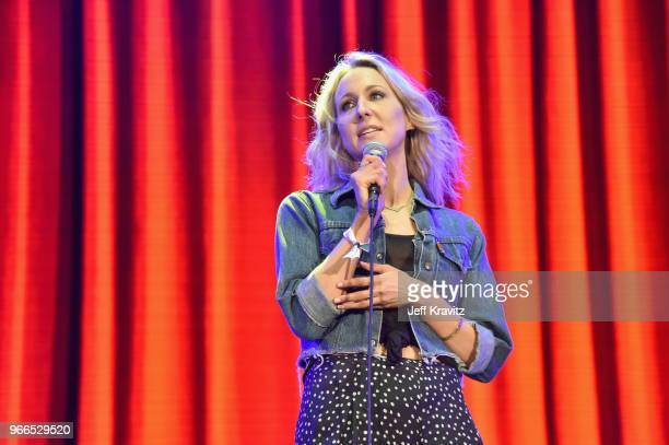 Nikki Glaser performs during 'Amy Schumer Friends' on the Colossal Stage during Clusterfest at Civic Center Plaza and The Bill Graham Civic...