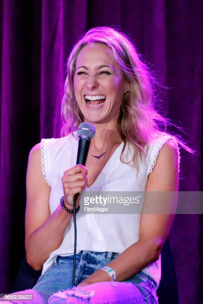Nikki Glaser performs onstage during 'You Up with Nikki Glaser Live' in the Room 415 Comedy Club during Clusterfest at Civic Center Plaza and The...