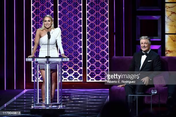 Nikki Glaser roasts Alec Baldwin onstage during the Comedy Central Roast of Alec Baldwin at Saban Theatre on September 07 2019 in Beverly Hills...