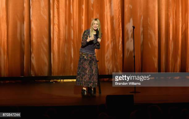 Nikki Glaser speaks onstage at the International Myeloma Foundation 11th Annual Comedy Celebration at The Wilshire Ebell Theatre on November 4 2017...