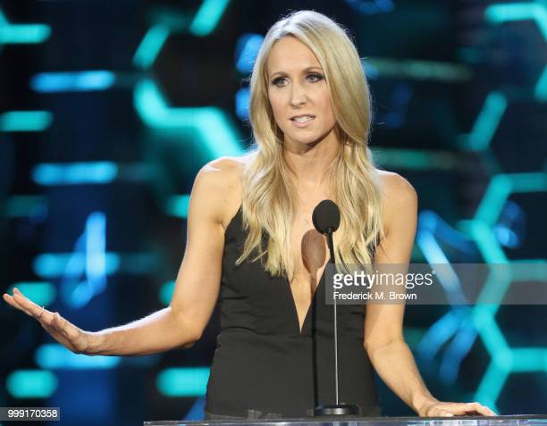 Nikki Glaser speaks onstage during the Comedy Central Roast of Bruce Willis at Hollywood Palladium on July 14 2018 in Los Angeles California