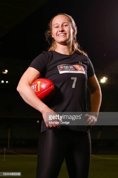 Nikki Gore poses during the AFLW Draft Combine at Etihad Stadium on October 2 2018 in Melbourne Australia