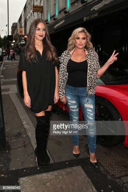 Nikki Grahame and Lady Nadie Essex attend Ester Dee All About the Beach launch party at The Directors Party Lounge on August 2 2017 in London England