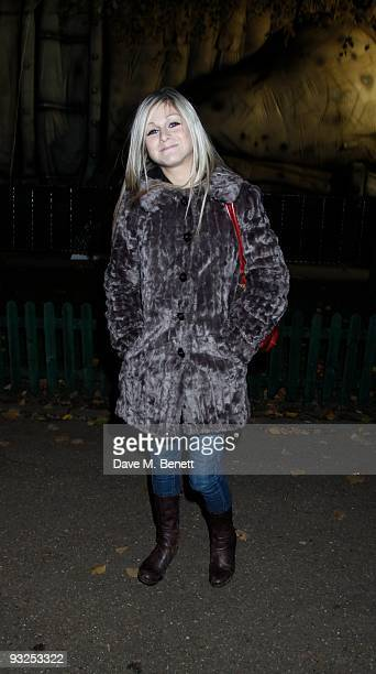 Nikki Grahame and other celebrities attend the opening night of the Winter Wonderland launch party in Hyde Park which is a major family event set to...