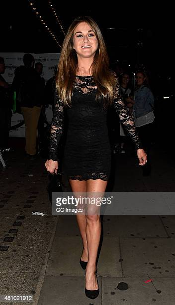 Nikki Grahame attends In The Style's Summer Part at The Drury Club on July 16 2015 in London England