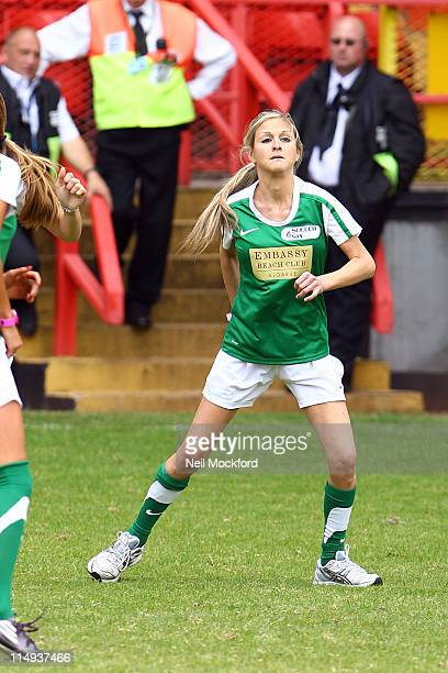Nikki Graham attends the 'Soccer Six' football tournament at Charlton Athletic FC at Charlton Athletic FC on May 30 2011 in London England
